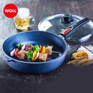WOLL 弗欧 1728TBL 不粘锅 平底锅煎锅手柄可脱卸 28cm 蓝色