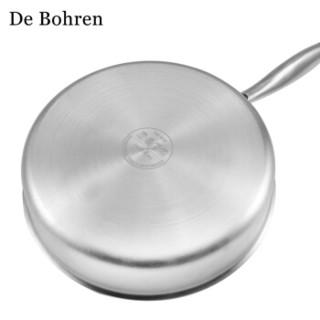 DeBohren DA1204 煎锅炒菜平底锅德国 26cm 不锈钢色