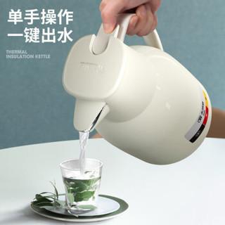 quanqiuying 全球鹰 家用大容量热水壶 象牙白 1.5L