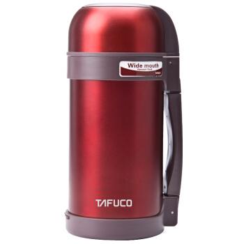 TAFUCO 泰福高 T1200系列 日本泰福高户外旅行真空暖水壶  雅红色T1200-1.2L