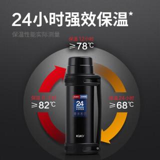 kaka 咔咔 KSO-2000-3 户外大容量保温瓶暖壶 黑色 2L