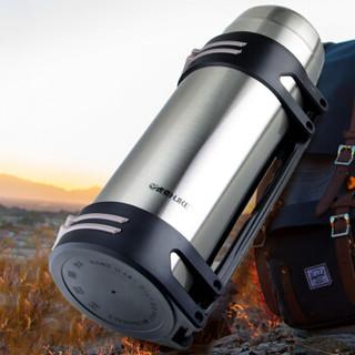 HUKE 虎克 HK2000 不锈钢保暖壶  本色  2000毫升