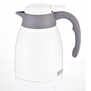 TIGER 虎牌 PWL-C12C 不锈钢真空保温水壶带茶滤网奶油色WP 1.2L