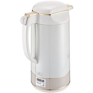TIGER 虎牌 PRM-A160 原装进口真空热水瓶玻璃内胆保温水瓶  白色FC 1.6L