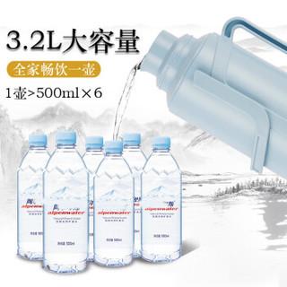 SIMELO 施美乐 印象京都盖塞一体热水壶 典雅蓝3.2L