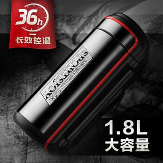 万象 Q19 户外不锈钢保温壶 红色 1.8L