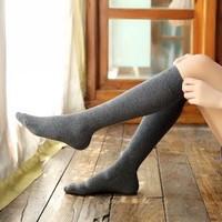 小腿袜黑色长筒袜子女堆堆袜