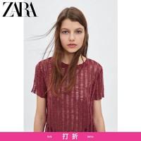 ZARA 新款 TRF 女装 镂空 T 恤 07901325605