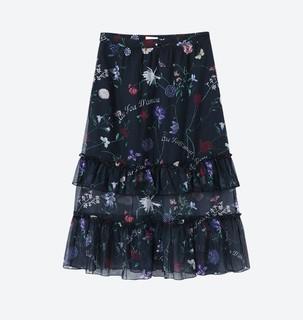 EICHITOO 爱居兔 女士印花半身裙