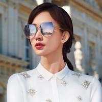 海伦凯勒19年新款太阳镜女款林志玲设计款墨镜时尚潮流偏光太阳镜 H8812晚霞色N08(非偏光)
