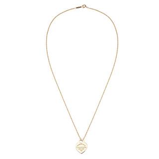 Tiffany&Co. 蒂芙尼 RETTO TIFFANY系列 女士18k金心形吊坠项链  金色  21453145
