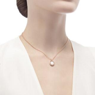 BVLGARI 宝格丽 I项链18K玫瑰金 镶嵌珍珠母贝 350553 CL857198