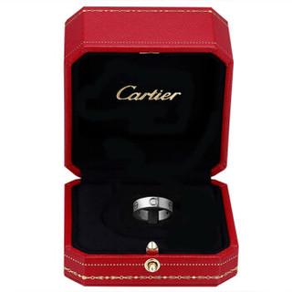 Cartier 卡地亚 18K铂金男女结婚钻戒三颗钻石戒指58 B4032500