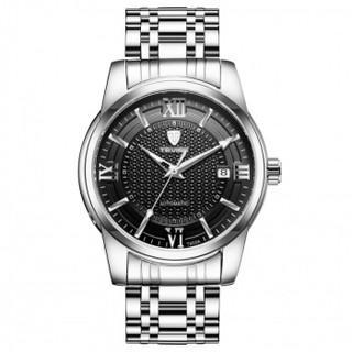 TEVISE 手表瑞士夜光日历手表全自动机械男表防水休闲男士手表 本色黑  TEVISE-T805A日历