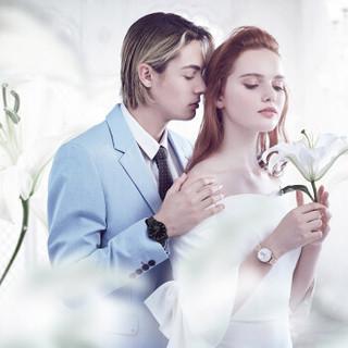 RARONE 雷诺 机械情侣表一对百年好合男女对表腕表 钢带 定制礼盒  86702989050502