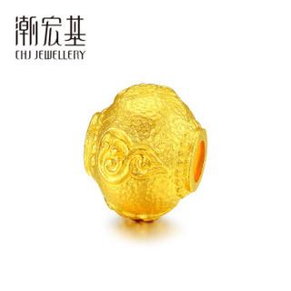 CHJ 潮宏基 黄金足金 古法系列-福禄珠 黄金转运珠串珠 计价工费120元 约3.05g  XPG30014903