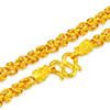 XIZHAO 喜兆 珠宝黄金项链男士足金四方龙骨链泰式龙头项链霸气金链子泰国链老板链实心环链 66.6克