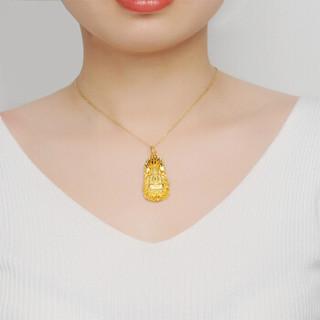 China Gold 中国黄金 -足金永保平安观音吊坠黄金首饰(计价) 16.47 GA0P187