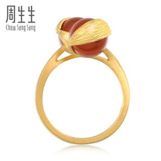 Chow Sang Sang 周生生 黄金戒指足金g* 系列玛瑙戒指  女款 86127R   15圈