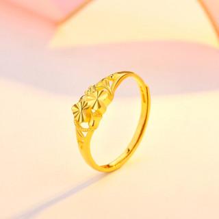 CABIOYA 卡铂亚 黄金戒指女款 999足金心心相映情侣定情定婚戒指 1.90克     6970569562308