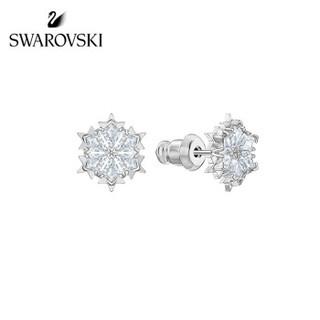 SWAROVSKI 施华洛世奇 MAGIC唯美浪漫雪花项链+耳环女套装 送女友礼物 女友礼物 镀白金色 5506235