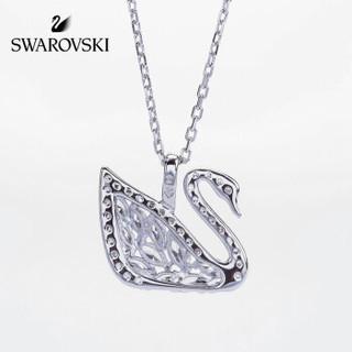SWAROVSKI 施华洛世奇 SWAN LAKE 个性简约 优雅精致 白金经典天鹅项链 镀白金色 5296469