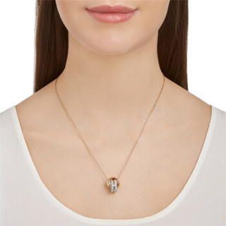 SWAROVSKI 施华洛世奇 FURTHER 玫瑰金色环扣项链 5240525 女友礼物