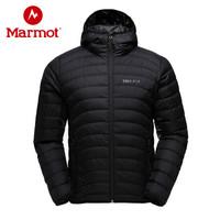 marmot/土拨鼠户外防水650蓬男超轻鹅绒羽绒服 黑色001 S 欧码偏大
