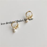 KRISTEN JUDI 淡水珍珠耳环长款流苏时尚耳钉925银针防过敏韩国品牌饰品送女友老婆生日礼物 金色