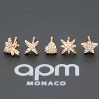 APM Monaco RE10733OX 蜜蜂星星爱心耳钉组合