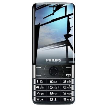 飞利浦(PHILIPS) E319 典雅黑 音乐手机 大屏超长待机 直板按键 移动联通 老人手机 学生老年备用功能手机