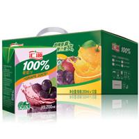 汇源 100%葡萄汁 果汁饮料 200ml*12盒