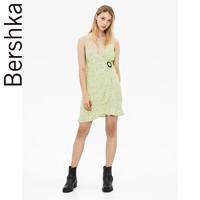 Bershka女士 牛油果绿波点吊带连衣裙短裙 05420619520