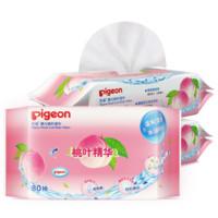 pigeon 贝亲 婴儿桃叶精华湿巾PL356 (80抽*3包、手口湿巾)