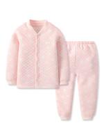 gb好孩子婴儿秋冬套装男女童保暖内衣套装 亲肤透气暖棉提花加厚
