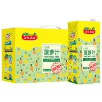 众果 100%菠萝果汁 (1L、5盒)