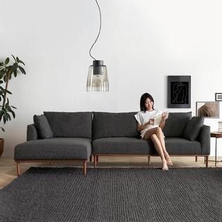 小米有品 样子绅士系列 泰晤士橡木沙发 (271X84X168cm、北美红橡木)