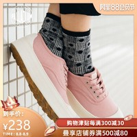 PALLADIUM 帕拉丁 低帮厚底帆布鞋小白鞋松糕鞋 女鞋 95768-B