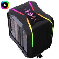 新品发售:长城(GreatWall)盖世G400 CPU散热器(侧吹式/4热管/智能温控/主板灯效同步/9CM风扇/支持AM4)