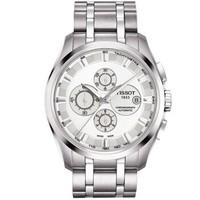 天梭(TISSOT)男表 瑞士库图系列自动机械手表 商务休闲防水男士手表钢带腕表  T035.627.11.031.00