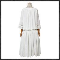 Artka 阿卡 普罗旺斯 L115050X 复古拉褶绣花连衣裙 (白色)