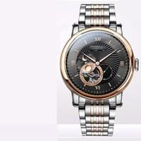 罗宾尼(LOBINNI)原创设计男士手表 全自动手表男机械表 商务镂空防水男式瑞表 新款瑞士风格男表 18013