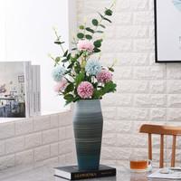 Hoatai Ceramic 华达泰陶瓷 手工陶瓷花瓶摆件大号+尤伽绿蒲公英套装