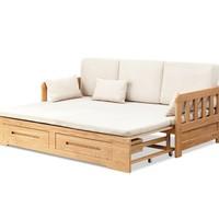 10点开始 : 源氏木语 C26 全实木沙发床 1.8米-2米