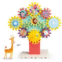 儿童齿轮积木拼装玩具益智套装宝宝男孩女孩蘑菇钉拼插颗粒3-6岁4