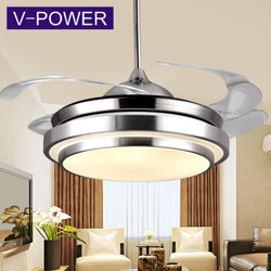 V-POWER 隐形风扇灯 吊扇灯 带灯吊扇LED餐厅吊灯
