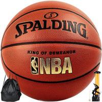 SPALDING 斯伯丁 斯伯丁篮球室内外比赛蓝球 经典NBA成人 7号PU篮球 76-167Y     斯伯丁篮球 (7号)