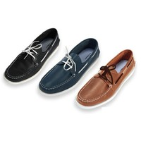 INTERIGHT 男士马克线帆船鞋单鞋休闲鞋