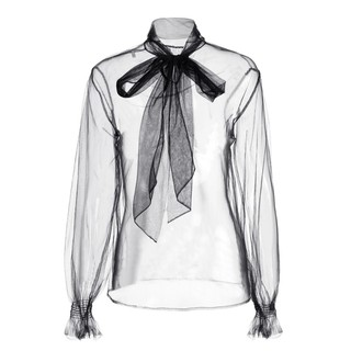 ochirly 欧时力 1GY4012930 女款透视网纱衬衫