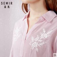 Semir 森马 13-038040016 女士短袖衬衫